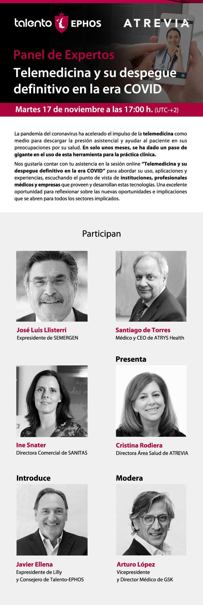 Panel de Expertos: Telemedicina y su despegue definitivo en la era COVID